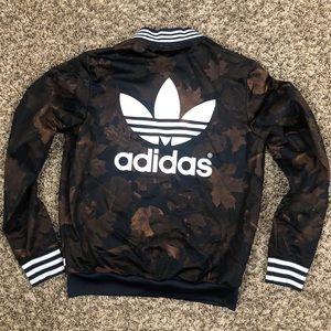 Women's Adidas trefoil 3 stripe track jacket